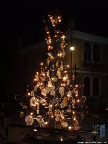 """Рождественская елка из стекла """"Murano"""". Италия. Фото пользователя Yancissima © """"Русские в Италии"""""""