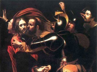 """Взятие Христа под стражу"" Караваджо, фрагмент"