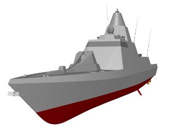 Компьютерная модель корвета Falaj-2 для ОАЭ. Изображение пресс-службы Fincantieri