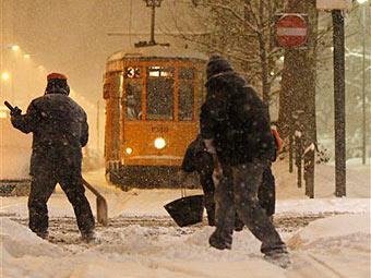 Последствия снегопада в Милане. Фото ©AP