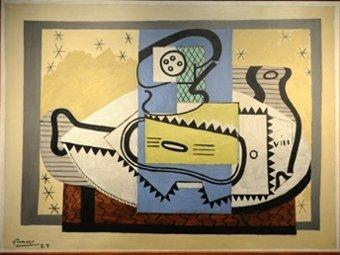 """Картина Пикассо """"Компотница и гитара"""". Фото ©AFP"""